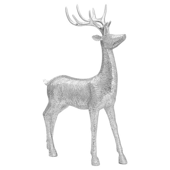 Decorative Wood Effect Standing Deer