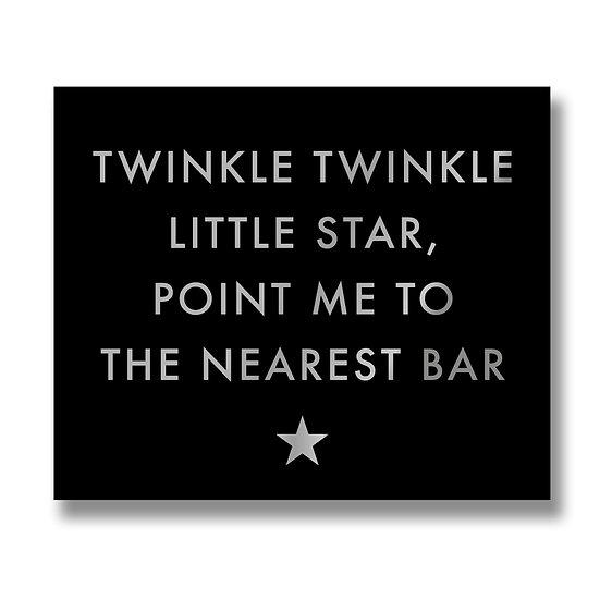 Twinkle Twinkle Gold Foil Plaque.
