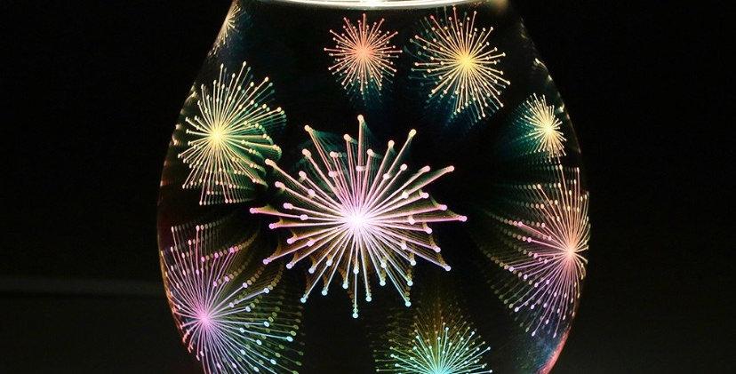 3D Firework Effect Light Up Electric Oil Burner