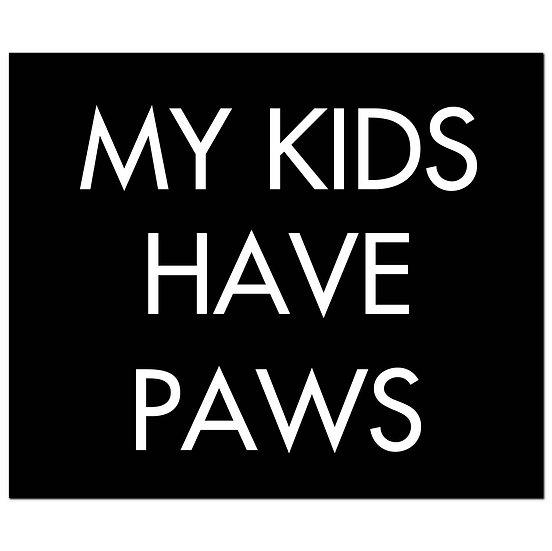 My Kids Have Paws Silver Foil Plaque