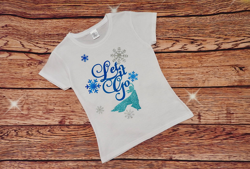 Disney Inspired Personalised 'Let It Go' T-Shirt