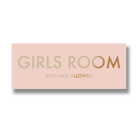 Girls Room Metallic Detail Plaque