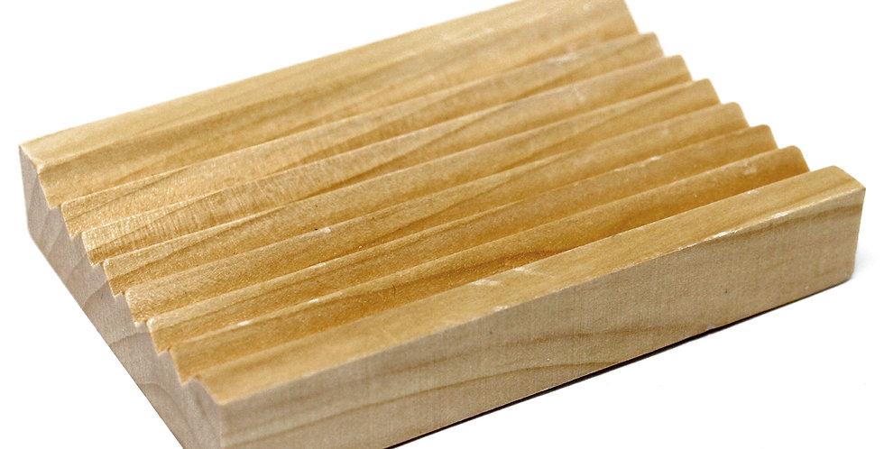 Hemu Wood Soap Dish - Groovy
