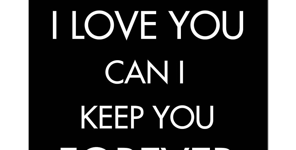If I Tell you I loveYou Can I Keep You Forever Silver Foil Plaque