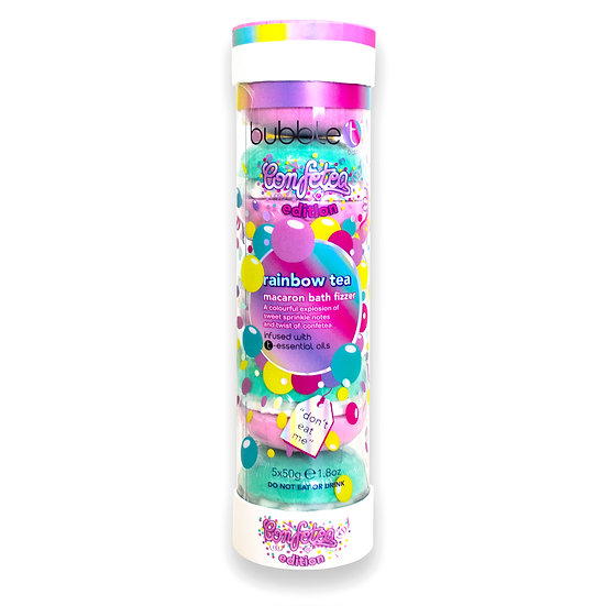 Bubble T Confetea Rainbow Macaron Bath Bomb Tube