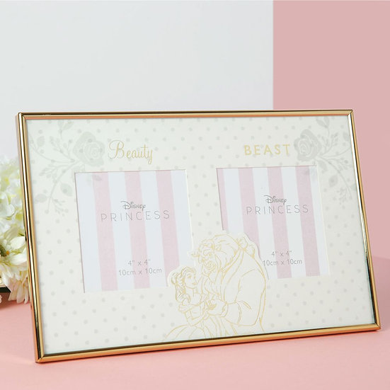 Disney Happily Ever After Beauty & The Beast Double Frame