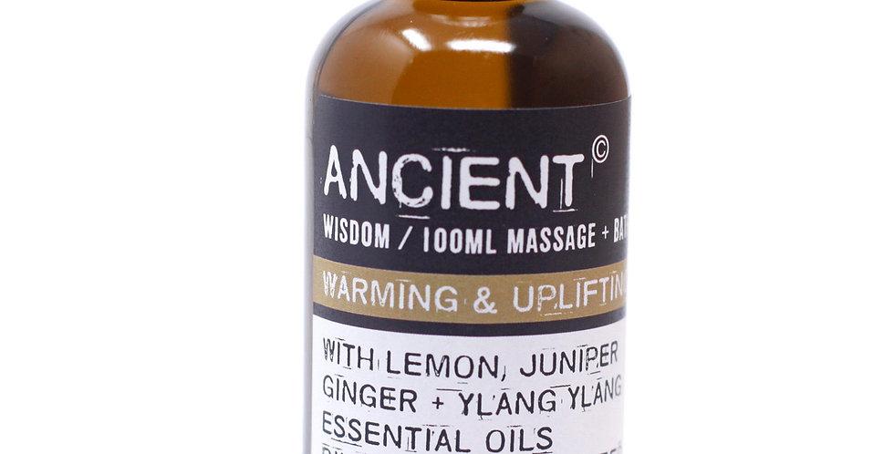 Warm & Uplifting Massage Oil - 100ml