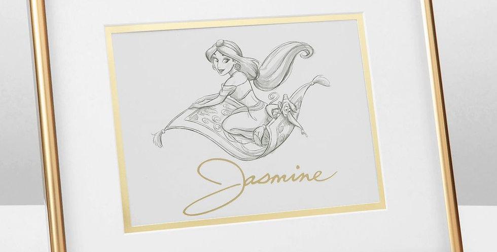 Disney Jasmine Framed Pencil Illustration