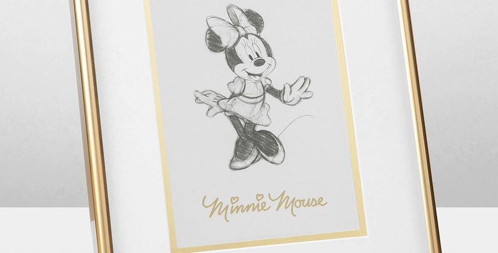 Disney Minnie Mouse Framed Pencil Illustration