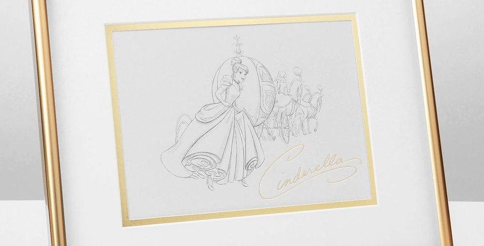 Disney Cinderella FramedPencil Illustration