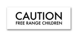 Caution Free Range Children Metallic Detail Plaque