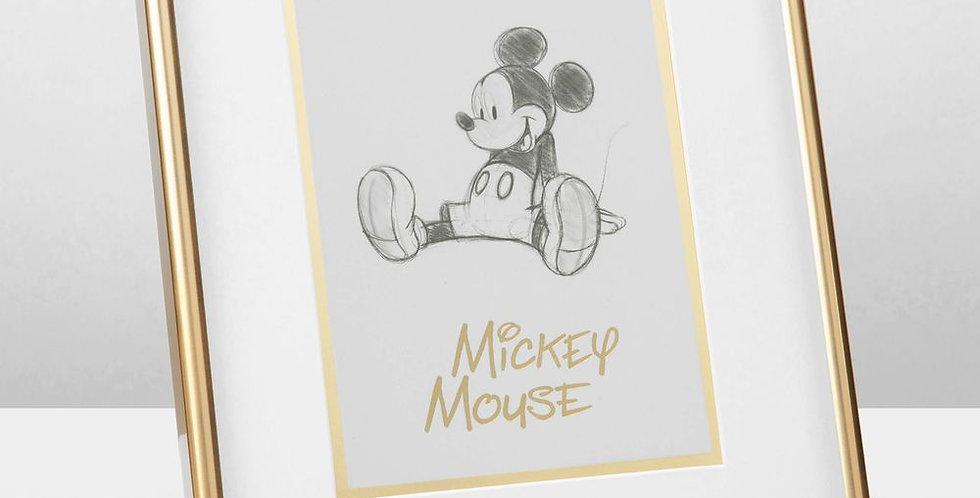 Disney Mickey Mouse Framed Pencil Illustration