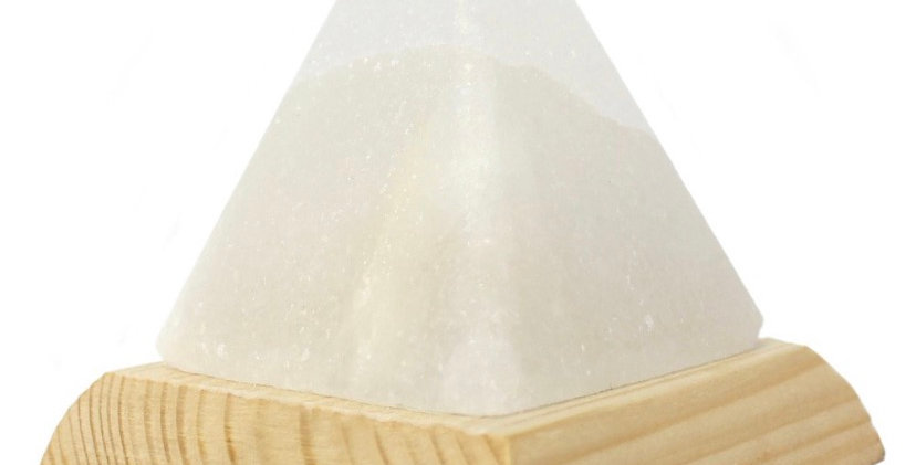 Himalayan White Pyramid USB Lamp