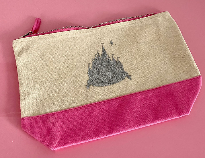 Disney Inspired Castle  Accessory Pouch