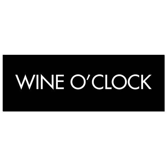 Wine O'Clock Silver Foil Plaque