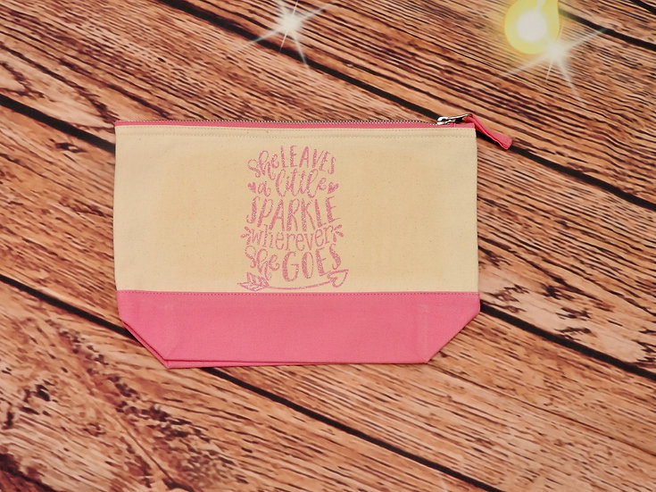 Leaves A Little Sparkle Accessory Pouch