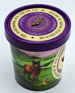 Tub of gorgeous ice cream from the Dartmoor Ice Cream Company