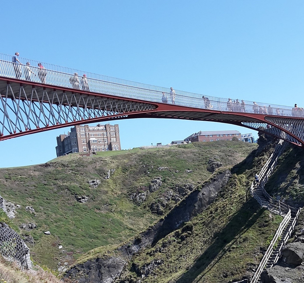 New pedestrian bridge at Tintagel