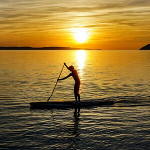 Paddle-boarding, one of the best things to do in Cornwall