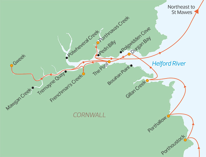 The delights of The Helford Estuary Map