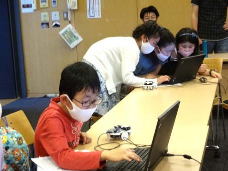 つくば市ふれあいプラザにてロボット・プログラミング教室を開催。