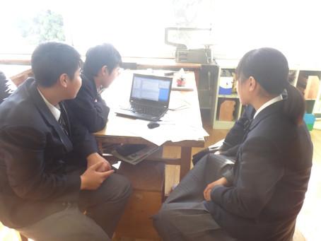 足立区立花畑中学校にて、ロボット・プログラミングの授業をやってきました。