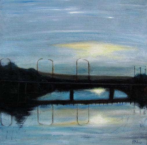 pont David Roy de Saint-Georges par l'artiste Johanne Maheux