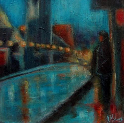 L'attente par l'artiste peintre Johanne Maheux
