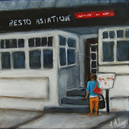 restaurant de Saint-Georges par l'artiste peintre Johanne Maheux
