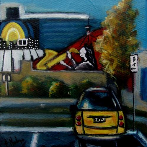 Fresque au centre-ville par l'artiste peintre Johanne Maheux