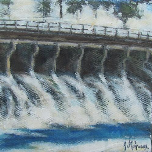 barrage Sartigan de Saint-Georges par l'artiste peintre Johanne Maheux