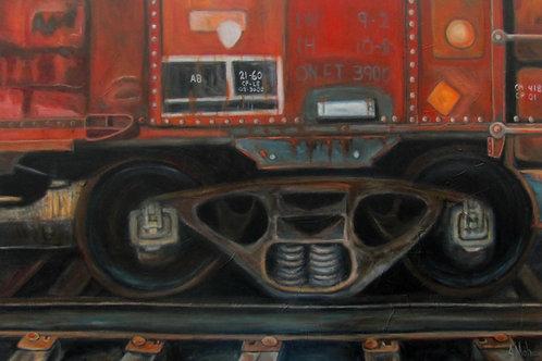 Train par l'artiste peintre Johanne Maheux