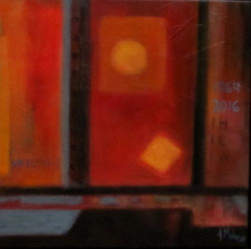 Fragment du train par l'artiste peintre Johanne Maheux