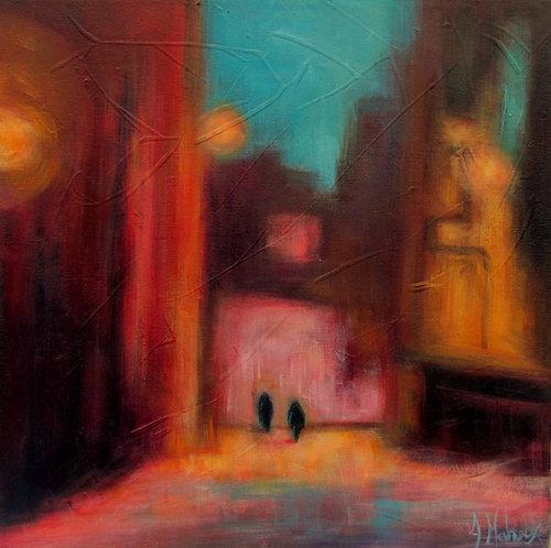 Deux solitudes par l'artiste peintre Johanne Maheux