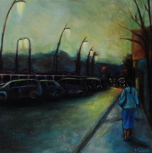 1ere avenue de Saint-Georges de Beauce par l'artiste peintre Johanne Maheux