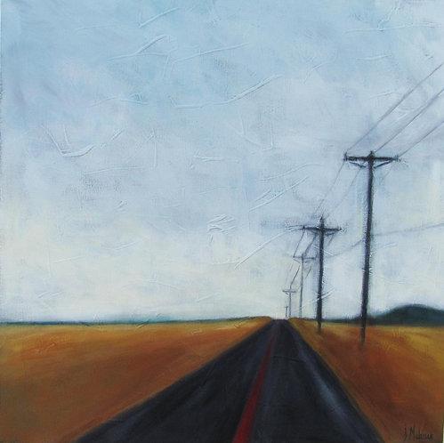 Route de campagne par l'artiste peintre Johanne Maheux