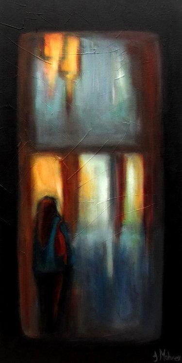 L'Insomniaque par l'artiste peintre Johanne Maheux.
