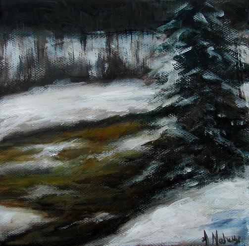 Rivière Pozer par l'artiste peintre Johanne Maheux