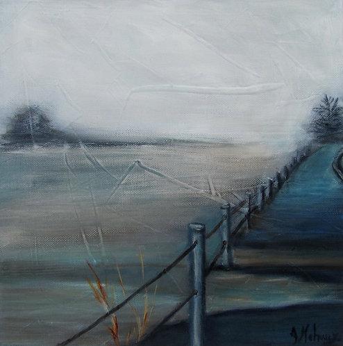 inondation et débordement par l'artiste peintre Johanne Maheux