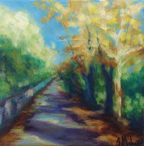 Chemin Seigneurial à Saint-Georges par l'artiste peintre Johanne Maheux