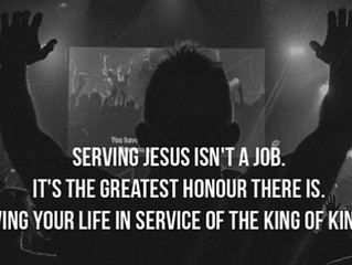 Serving Jesus isn't a job.