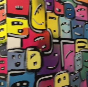 Fresque murale Les Petits Cubiques