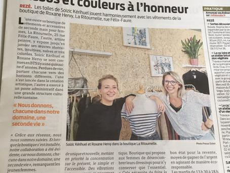 Exposition à La Ritournelle / Presse Océan 26/10/20