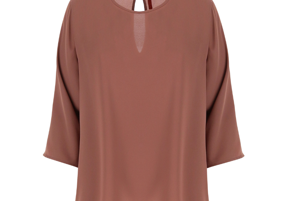 Chemise Imperial à manches 3/4 dark pink