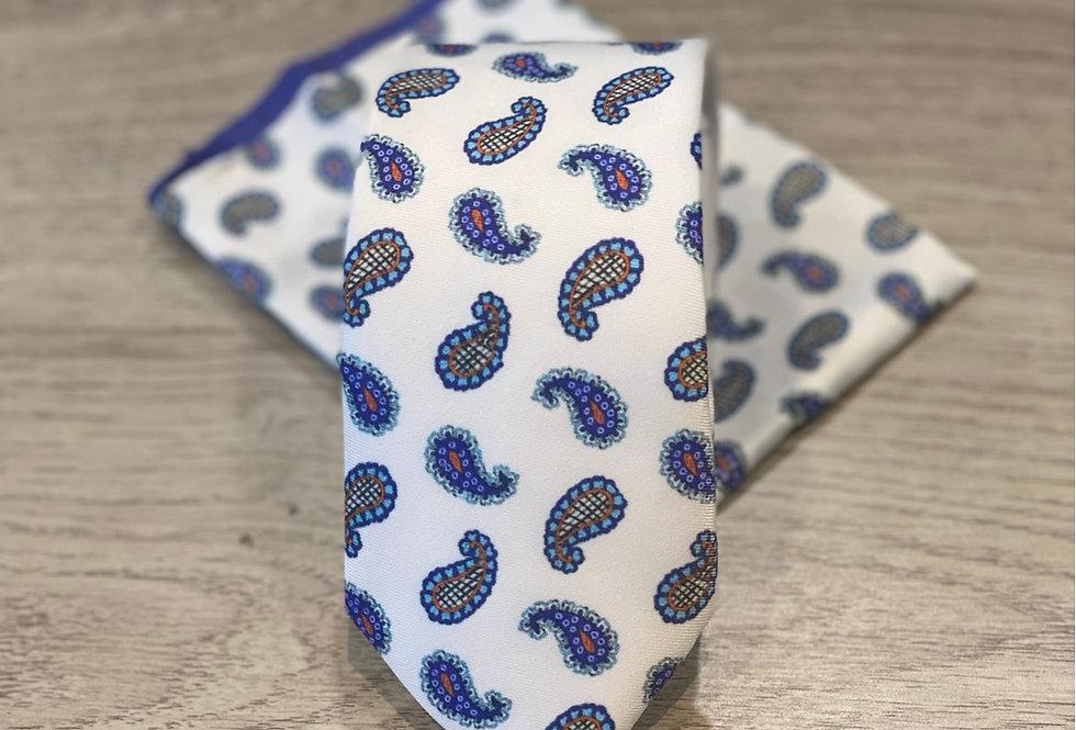 Cravate et pochette FV à motifs