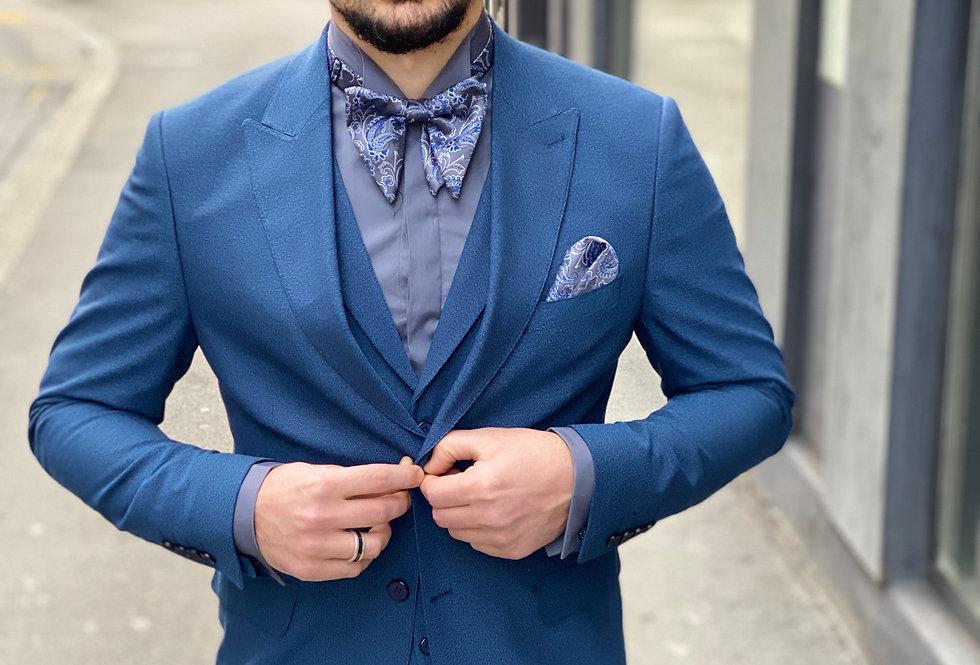 Costume slim fit 3 pièces Bleu roi