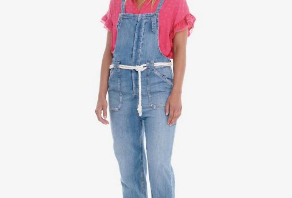 Salopette en jeans le temps des cerises