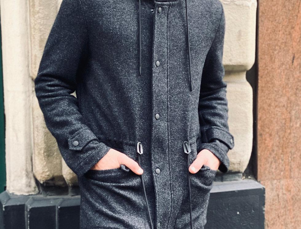 Manteau en laine mélangée Dark Grey
