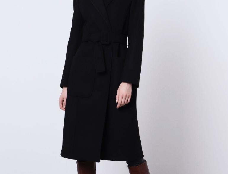 Manteau Imperial Black avec ceinture à boucle