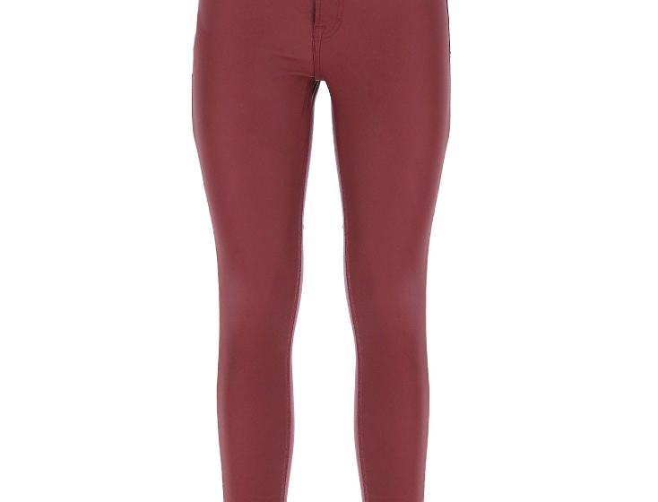 Pantalon skinny en similicuir Imperial Bordeaux